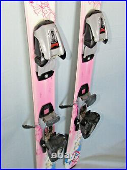 K2 Luv Bug girl's jr all mtn skis 112cm with Marker M700 kids youth ski bindings