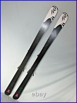 K2 TRUE LUV TNine women's skis 163cm with Marker ERP 10.0 adjustable bindings