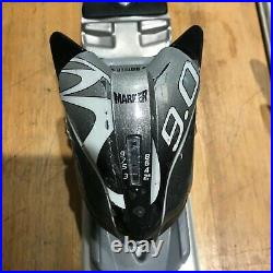 K2 amp 124cm smaller adult/teenager skis with marker bindings