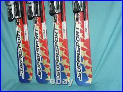 LOT OF 2! Volkl Supersport 4 Star Skis All-Mtn 158cm Marker Motion M12 Bindings
