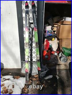 Vintage Dynamic VR 17 downhill Skis with Marker Bindings