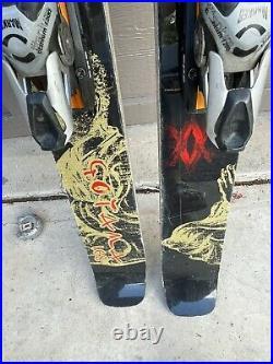 Volkl Gotama freeride skis 168cm with Marker Titanium Piston ski bindings