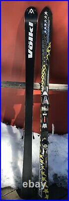 Volkl Supersport 6 Star 168cm 14.4m Radius Skis Marker Comp 1400 Bindings