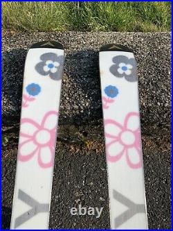 Women's Roxy Flower Motive Skis 120cm with Marker 4.5 Bindings